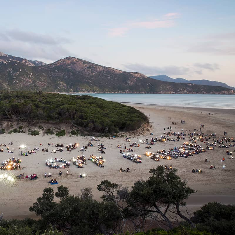 Hands of Parks at Wilsons Promontory
